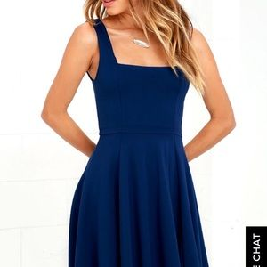 Course of Action Navy Blue High Low Dress